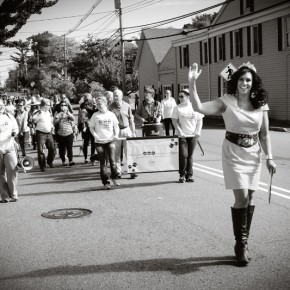 Me leading the parade.