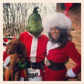 I found a dog and the Grinch.