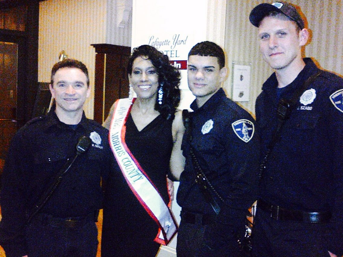 Mrs. Morris County poses with some of the bravest of New Jersey